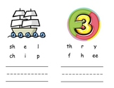 Digraph sh, th, wh, ch Picture/Word Cards