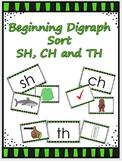 Digraph sort - beginning sounds sh, th, ch