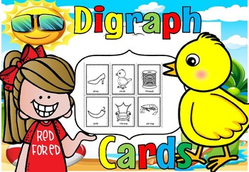 Digraph sorting cards,sh,ch,th(FREE)