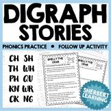 Consonant Digraph Stories - th, sh, ch, wh, ph, kn, kn, tch, wr, ck, ss