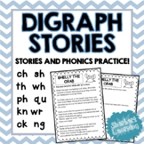 Digraph Stories - Phonics Practice! ch sh th wh ph qu ck k