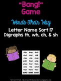 Digraph - th, sh, ch, wh - Game (WTW Letter Name Sort 17)