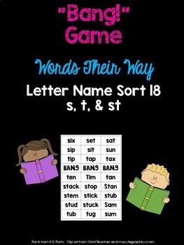 Blends - st - Game (WTW Letter Name Sort 18)