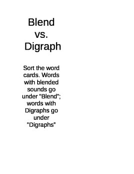 Digraph vs Blend Sort