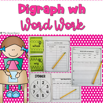 Digraph wh Word Work