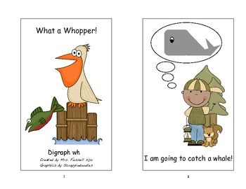 Digraph wh printable text for young readers