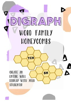 Digraph word family honeycombs