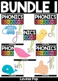 Digraph word work BUNDLE 1 - CH, PH, SH, TH, WH