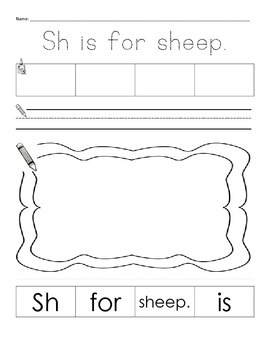 Digraph work bundle for sh, ch, th, wh