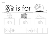 Digraph writing for sh, ch, th, wh