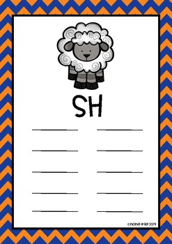 Digraph Posters for Literacy Centre activities- Sh, Ph, Wh, Th and Ch