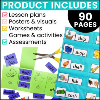 Phonics By Design Digraphs Unit BUNDLE {CK, CH, SH, TH, & WH}