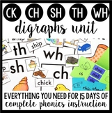 Phonics By Design Digraphs Unit BUNDLE {CK, CH, SH, TH, & WH}