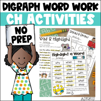 Digraphs CH Word Work