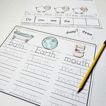 TH Digraph - Beginning and Ending Sounds