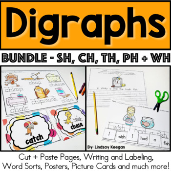 Digraphs Bundle - Beginning and Ending Sounds for CH, SH, TH and WH