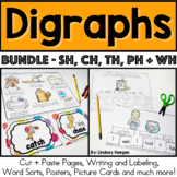 Digraphs Activities Bundle - CH, SH, TH, PH and WH