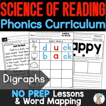 Consonant Digraphs Word Work Activities & Vocabulary Cards for Reading Centers