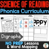 Consonant Digraphs Word Work Center with Vocabulary Cards