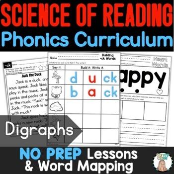 Digraph Word Work Cards & Vocabulary Cards {Phonics Activities}