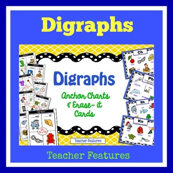 Digraph Word Work Anchor Charts & Erase-it Cards