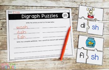 Consonant Digraphs Word Work