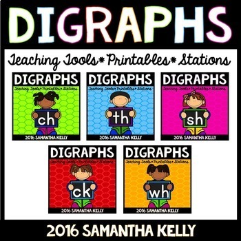 Digraphs Bundle - ch, th, sh, ck, wh