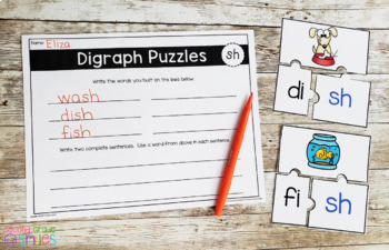 Digraphs Word Work: th, sh, ch, and wh