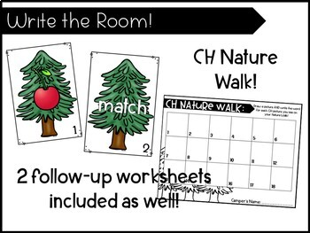 Digraphs- A Camping-themed /CH/ Activity Pack! Center and more!
