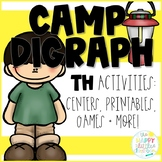 Digraphs- A Camping-themed /TH/ Activity Pack! Center and more!