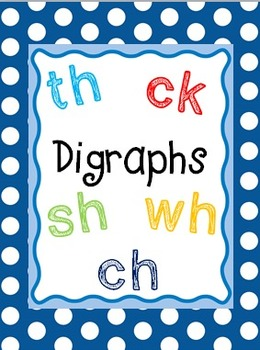 Digraphs! (A Unit on Ch, Sh, Th, Wh, and Ck)