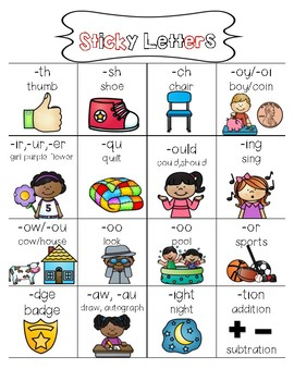 Digraphs Anchor Chart