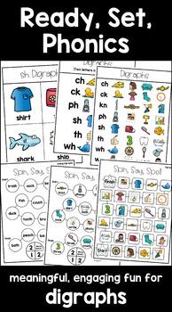 Beginning & Ending Digraphs Interactive Activities (First Grade Phonics)