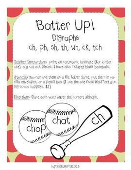 Digraphs: Batter Up!