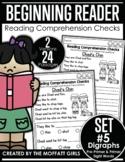 Digraphs Beginning Reading Comprehension Checks Phonics Based Set 5 GOOGLE READY