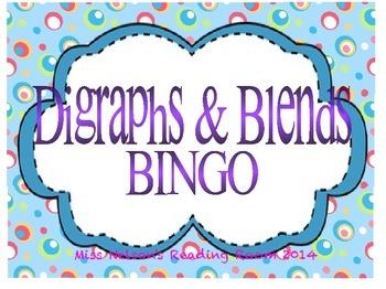 Digraphs & Blends BINGO Literacy Game