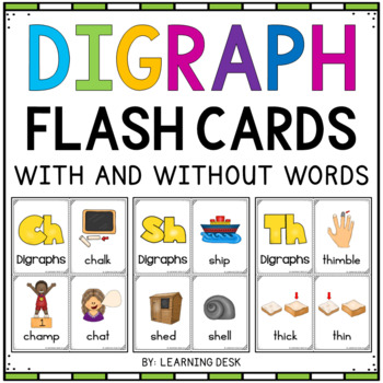 Digraphs Activity Center (Flash Cards)