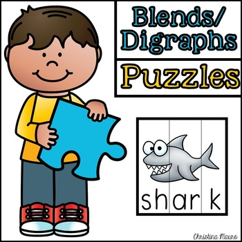 Digraphs & Blends Cut Apart Puzzles