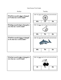 Digraphs Blends Daily Review First Grade