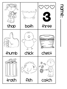 Digraphs Book 1 (ch th sh sounds)
