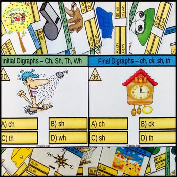 Initial and Final Digraphs Task Cards Bundle