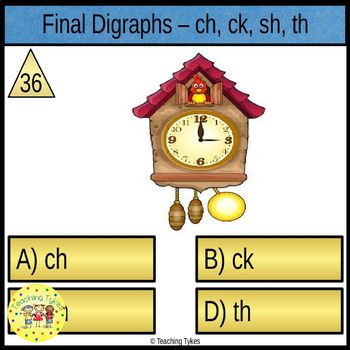 Digraphs Task Cards