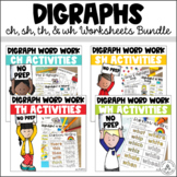 Digraphs Word Work Bundle