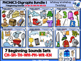 Digraphs Beginning Sounds Bundle Clip Art - Whimsy Workshop Teaching