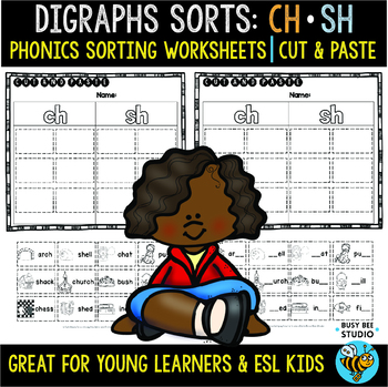 Digraphs CH - SH | Cut and Paste Worksheets