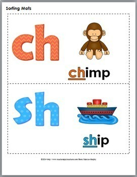 Digraph Sort, Worksheets & Posters - Digraphs Ch, Sh, Th, Wh