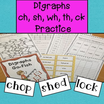 Digraphs CH, SH, WH, TH, CK  Practice