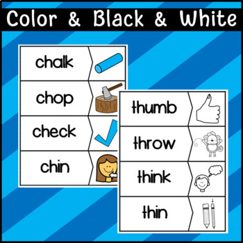 Digraphs: CH, TH, WH, SH: Puzzles, Stories, Worksheets, Cut and Paste