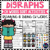 Digraphs CH WORDS SORT - Beginning and Ending CH DIGRAPHS Worksheets