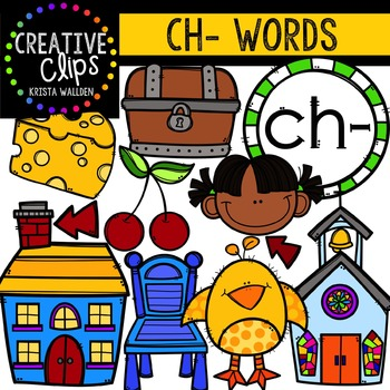Digraphs - CH Words {Creative Clips Digital Clipart}